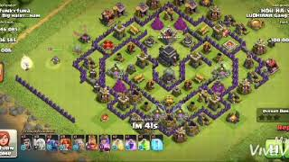 Clash Of Clans Town hall 9 attack by valkyrie, pekka, healer and wizard