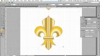 Draw a fleur de lis in Adobe Illustrator with the pen tool