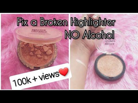 Fix A Broken Highlighter - NO ALCOHOL | Fix Broken Compact Powder/ Eyeshadow / Bronzer | DIY With RJ