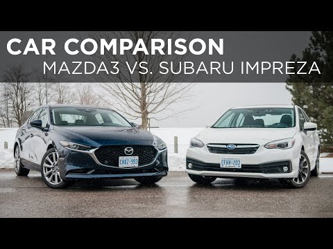 2020 Mazda3 Vs. 2020 Subaru Impreza | Car Comparison | Driving.ca