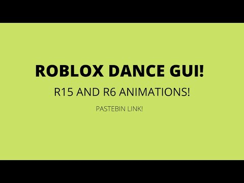 Fe Dance Gui R15 And R6 Roblox Youtube