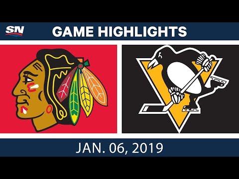 NHL Highlights   Blackhawks vs. Penguins - Jan. 6, 2019