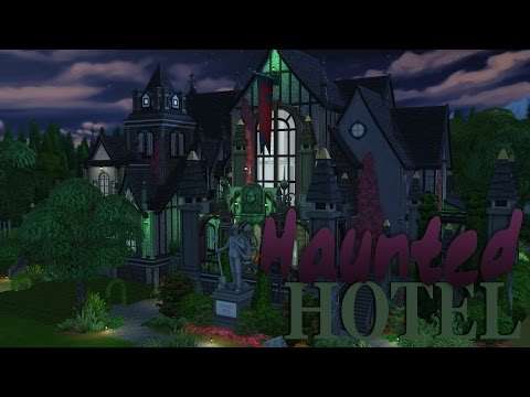 The Sims 4   House Building - Haunted Hotel (Part 1)