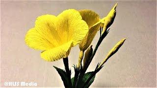 How to make allamanda paper flower easy| diy origami allamanda crepe paper flower making tutorials