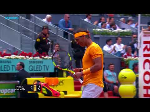 Two stunning Nadal winners as he beats Monfils | Mutua Madrid Open 2018