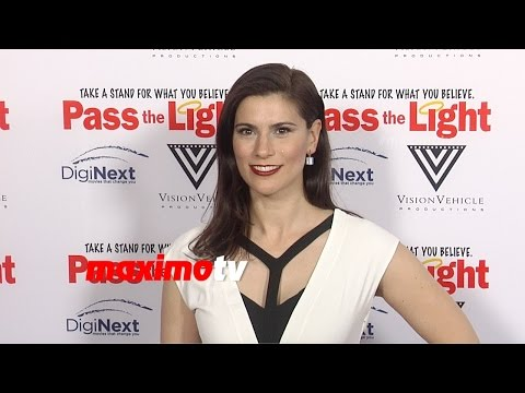 Milena Govich  Pass the Light Premiere  Red Carpet