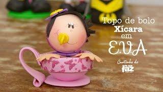 Topo de Bolo Xícara em E.V.A  – Priscila Godói