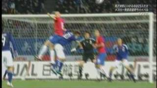サッカー日本対セルビア-キリンカップ2010