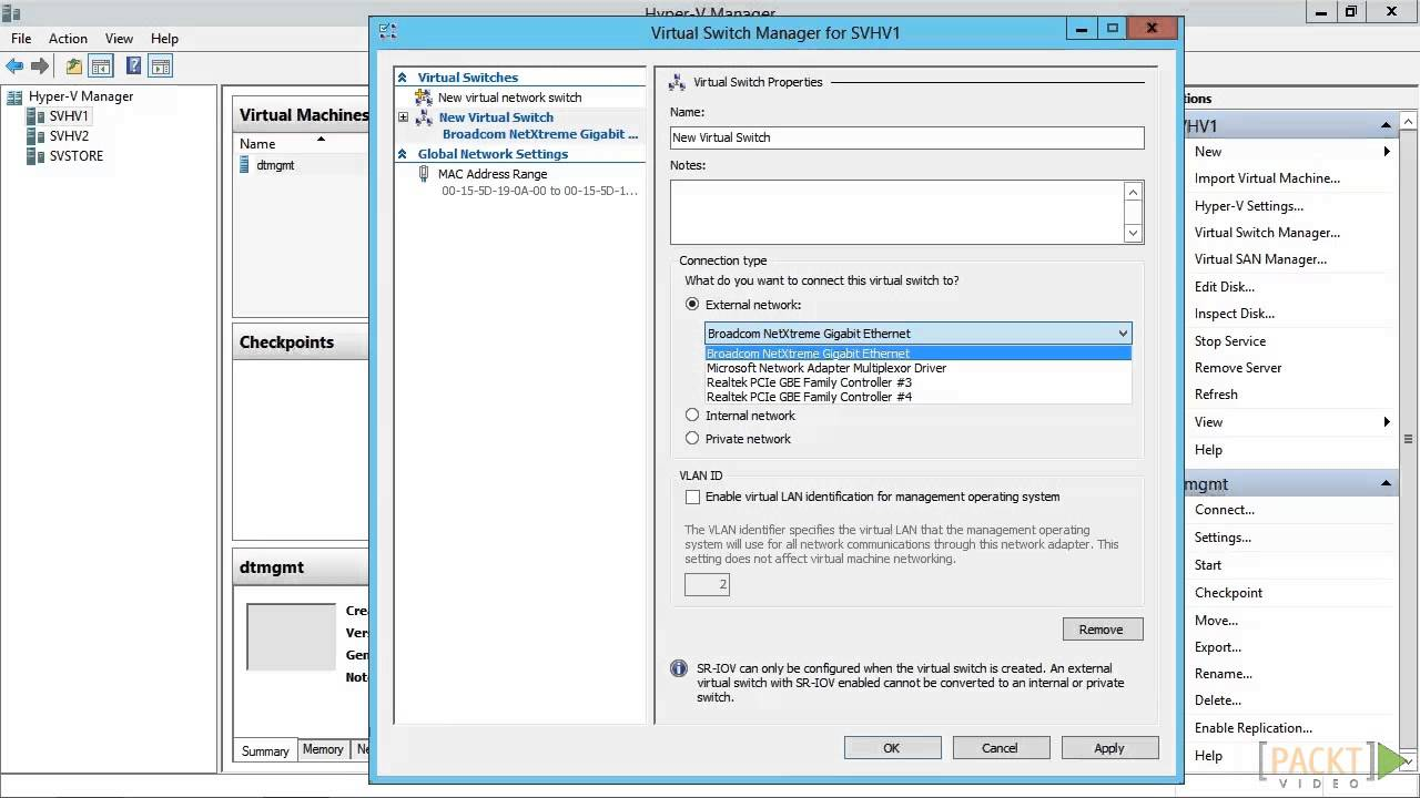 Hyper-V Server 2012 R2 Tutorial: The Hyper-V Virtual Switch | packtpub com