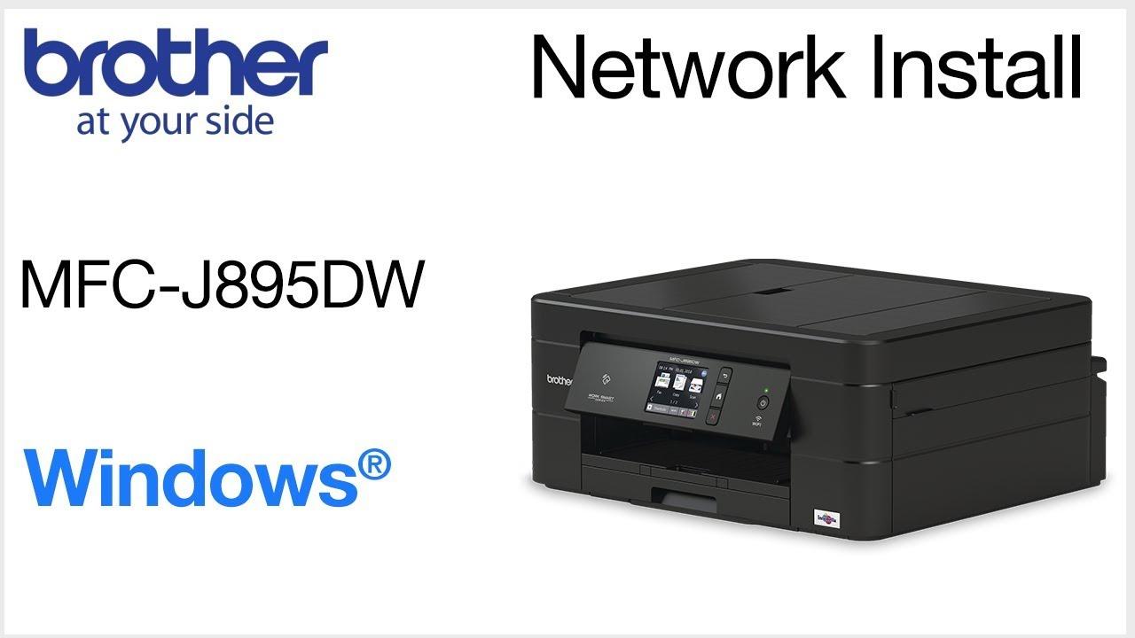 Wired Network Install MFCJ895DW - Windows