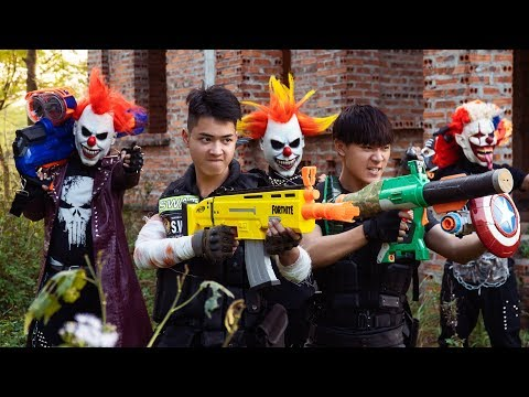 Loka Nerf Guns : Squad Delta Nerf Guns Fight Dr.Crazy Crime Group Mask Ep 2