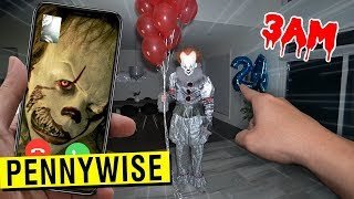 CALLING PENNYWISE 2 ON FACETIME AT 3 AM!! (ATTACKED)