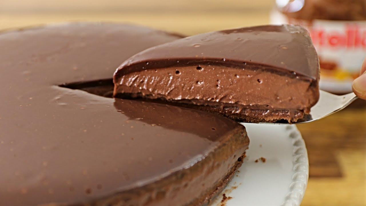 No Bake Nutella Cheesecake Recipe Youtube