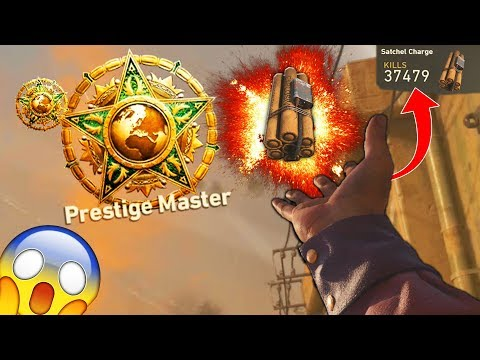 WORLDS FIRST EXPLOSIVE ONLY MASTER PRESTIGE in COD HISTORY! (NEVER USED A WEAPON) 😱 - COD WW2