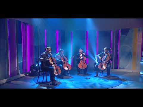 Prague Cello Quartet - Thinking Out Loud - cello cover [ TV live ]