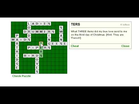 Christmas Crossword- Advent Day 18