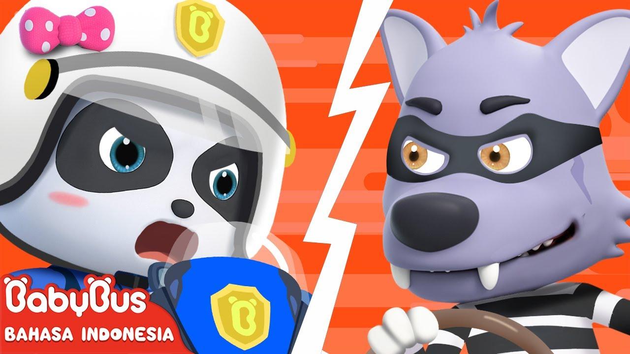 Polisi Super Di Sini, Jangan Lari Serigala Jahat! | Lagu Anak Indonesia | BabyBus Bahasa Indonesia