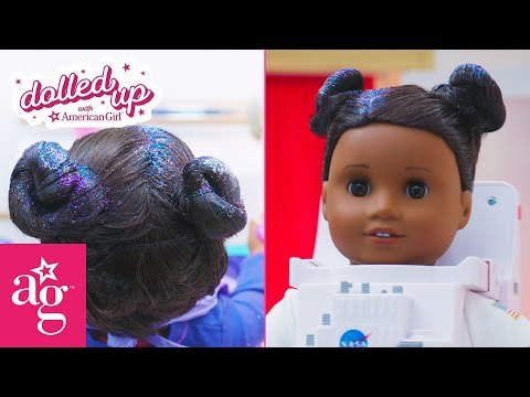 Glitter Space Buns At The Doll Salon | Dolled Up With American Girl | American Girl
