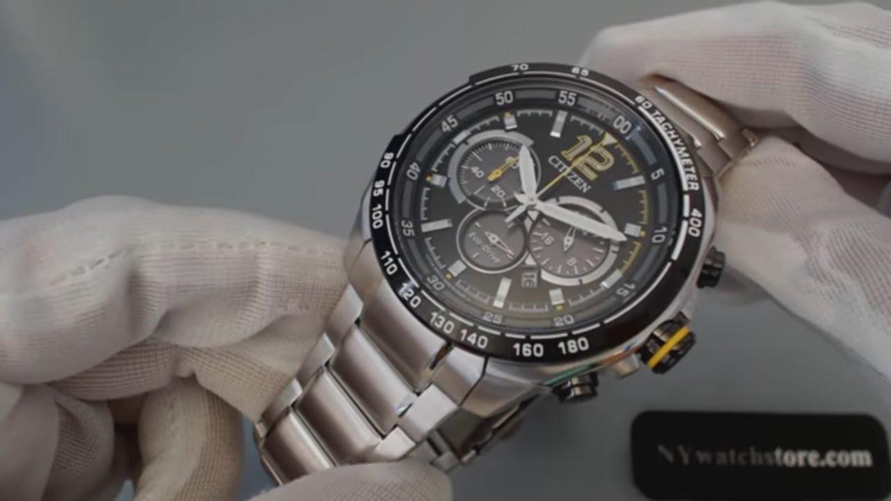 ef2fbff68 Men's Citizen Eco Drive Chronograph Sports Watch CA4234 51E - YouTube