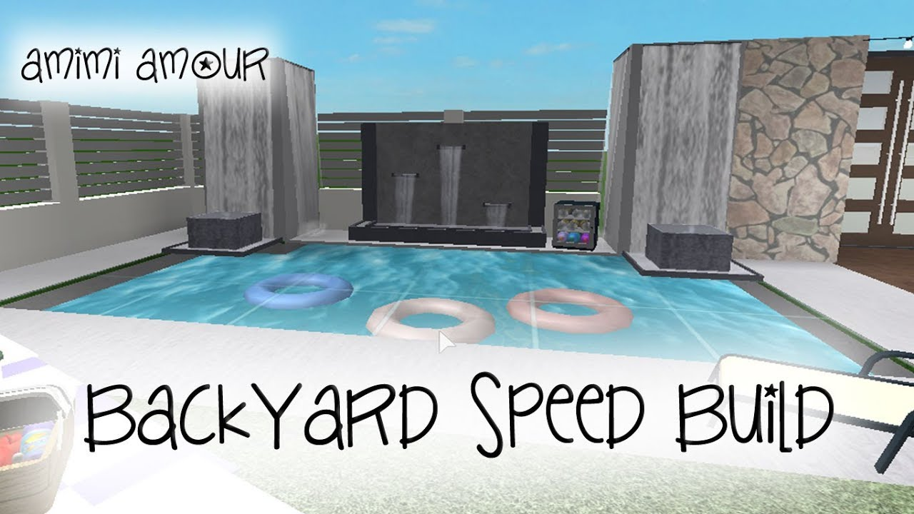 Welcome To Bloxburg Backyard Speed Build Youtube