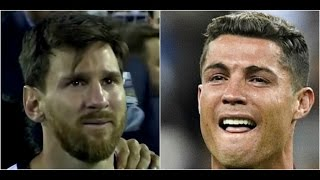 Lioniel Messi & Cristiano Ronaldo ▶ Crying and Sad Moments ▶Try not to CRY  2016 HD