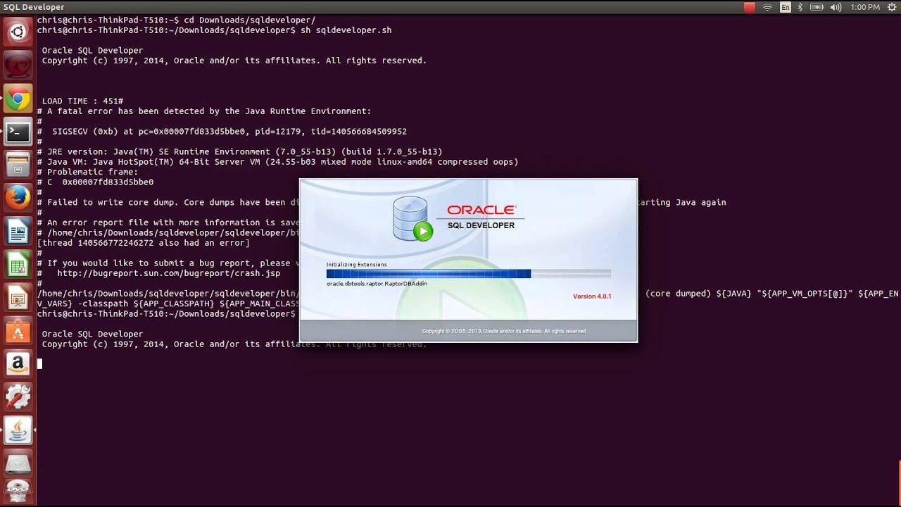 Sql Developer Running on Ubuntu 14 04
