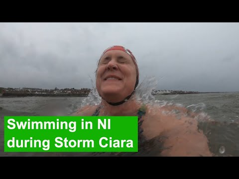 Storm Ciara: Swimming In Northern Ireland