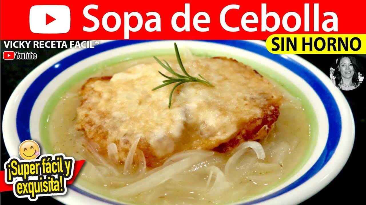 sopa de cebolla light receta