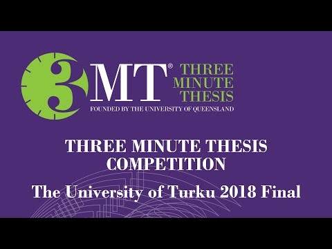 Runner-up of the 3MT Final 2018 at the University of Turku, Pablo Perez