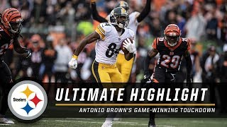 Antonio Brown's Game-Winning Touchdown | Ultimate Highlight