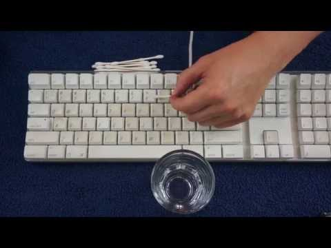 Keyboard Cleaning - Old Mac Keyboard - ASMR
