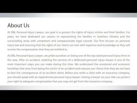 Personal Injury Lawyer IN Windsor – EBIL Personal Injury Lawyer