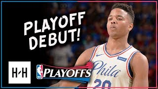 Markelle Fultz Full Game 1 Highlights 76ers vs Heat 2018 Playoffs - Playoff DEBUT!