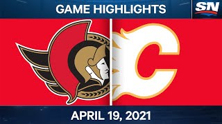 NHL Game Highlights | Senators vs. Flames - Apr. 19, 2021