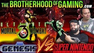 Ultimate Mortal Kombat 3 // SEGA vs SNES // The Brotherhood of Gaming