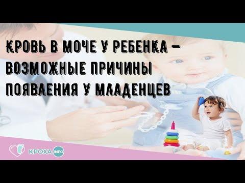 Кровь в моче у ребенка — возможные причины появления у младенцев