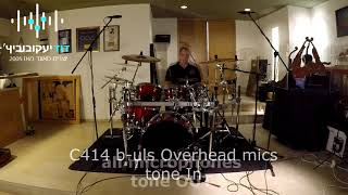 Testing the warm audio 412 on drum