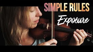 How to expose - Siṁple rules for cinematic images