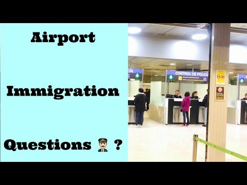 Customs & Immigration Questions | At Airport | Schengen Visa | In Hindi |  👨🏻‍✈️✈️