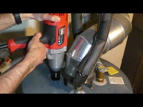 How I Removed And Replaced Hot Water Tank Anode Rod With A Walmart $40 Impact Wrench