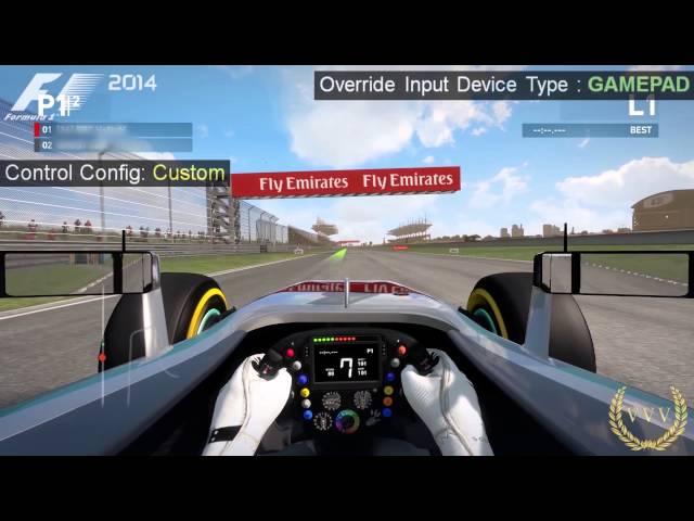 F1 2014 Hidden Controller Assist Performance