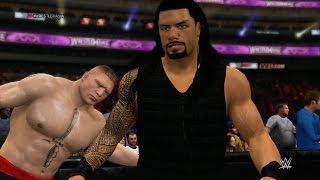 Wwe 2k15 - Roman Reigns vs Brock Lesnar