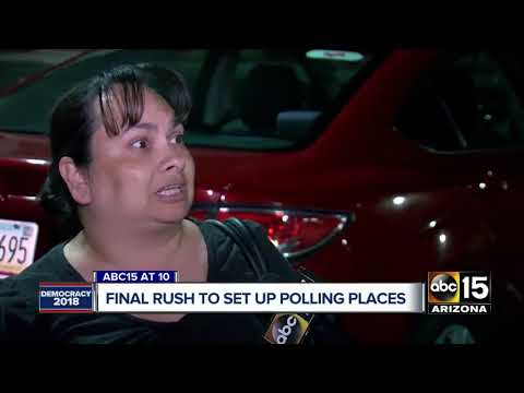 Maricopa County elections workers in final push to get polls ready