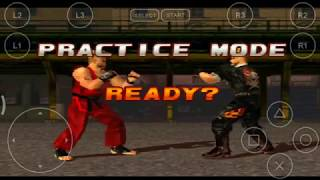 Tekken 3 Paul - all moves and  combo(10 hit) attacks with keys onscreen