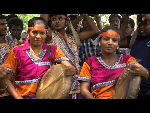 BJP Government Is Ignoring Tamil Folk Art - Tamil Nadu  Folk Artist Unique Protest - Red Pix 24x7