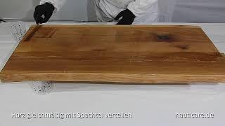 Gießharz - Holz Tisch eingießen