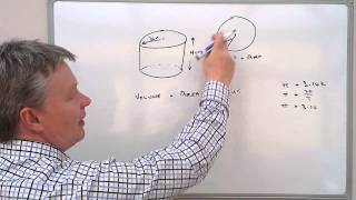 How to calculate the volume of a cylinder