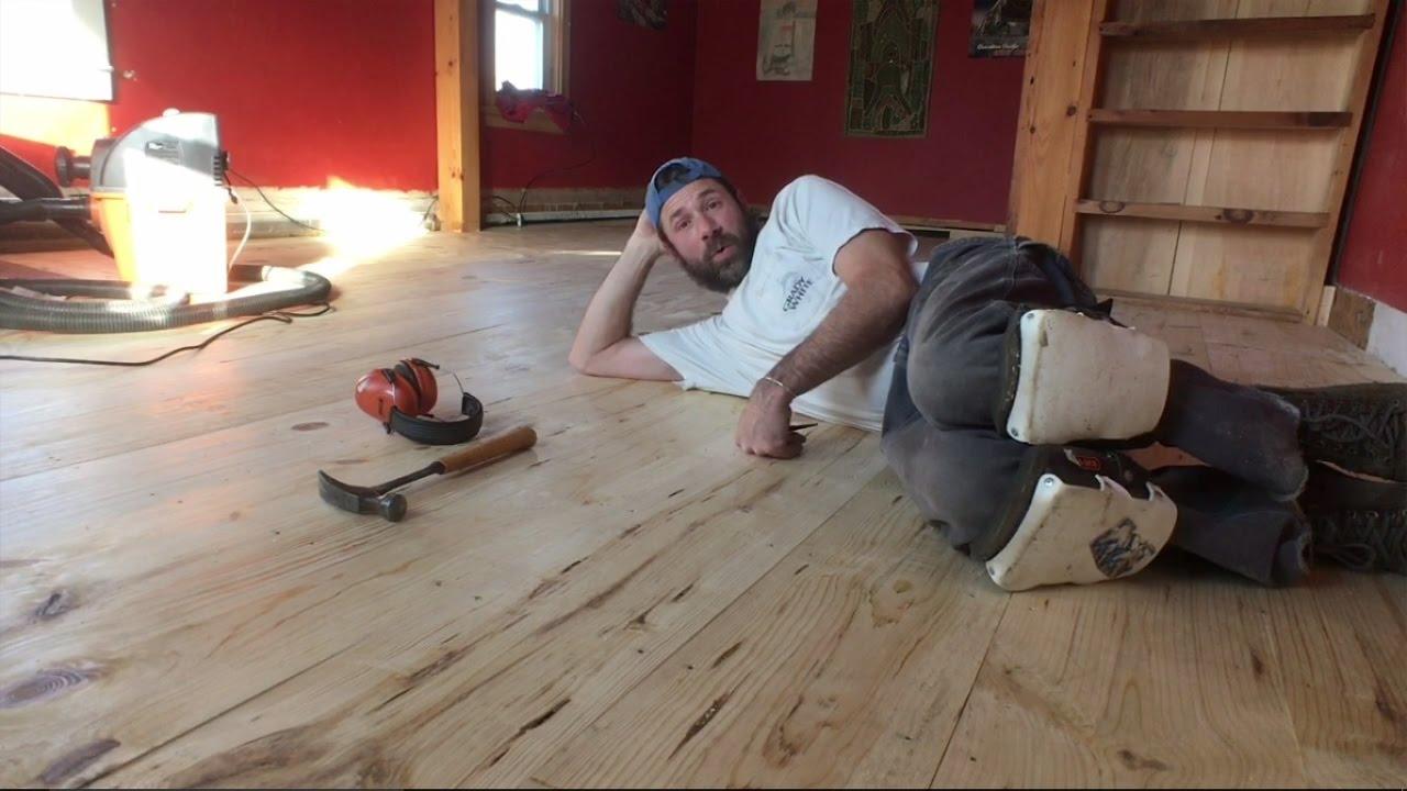 Sanding A Pine Floor Maine Vlog 237
