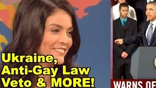 LiberalViewer Sunday Clip Round-Up 46: Ukraine, Anti-Gay Law Veto - John Kerry, Bill Maher & MORE!