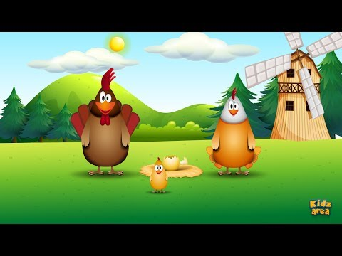 Chicken Family - Funny Song For Kids (with Lyrics)